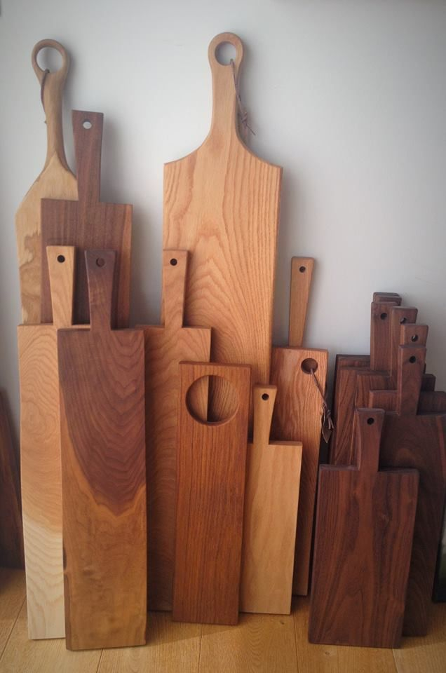 Handmade wooden boards Made from oak walnut