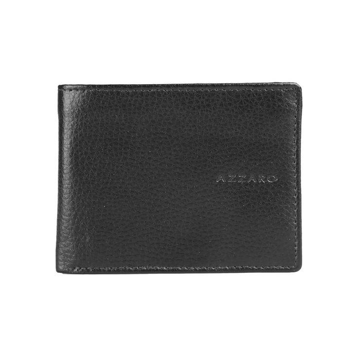 Azzaro Portafoglio uomo 100% PELLE con Logo, Azzaro Men s wallet