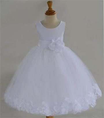 Resultado de imagen para vestidos de niña de petalos