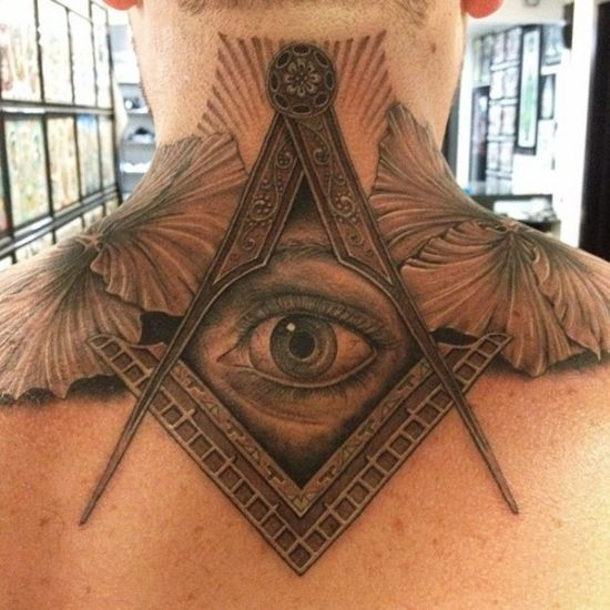 Square and Compass Tattoo