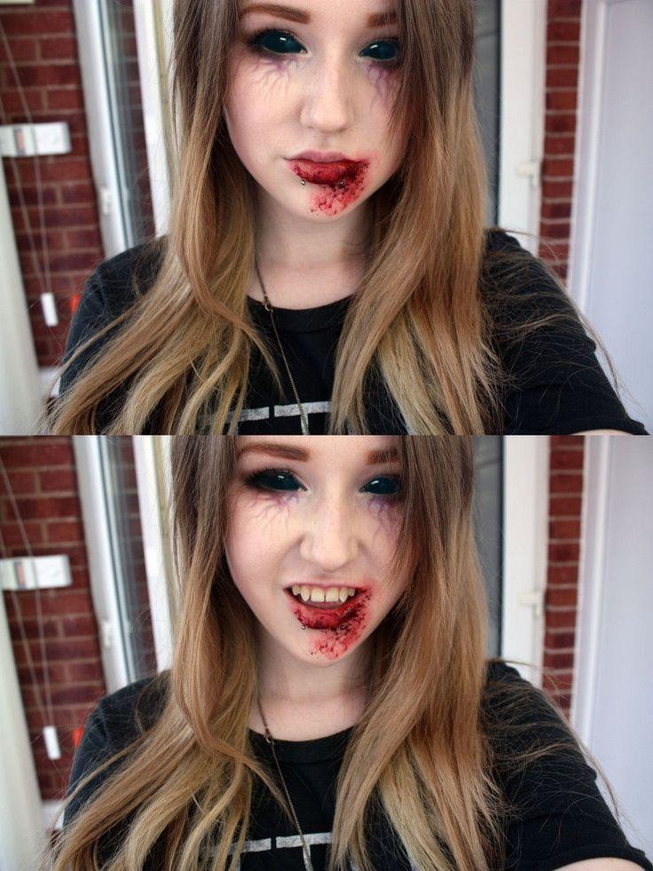 Vampire make up by =natmorley on deviantART: