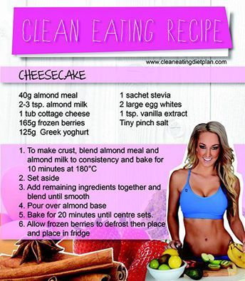 Ashley Bines Clean Eating ~Cheesecake !!