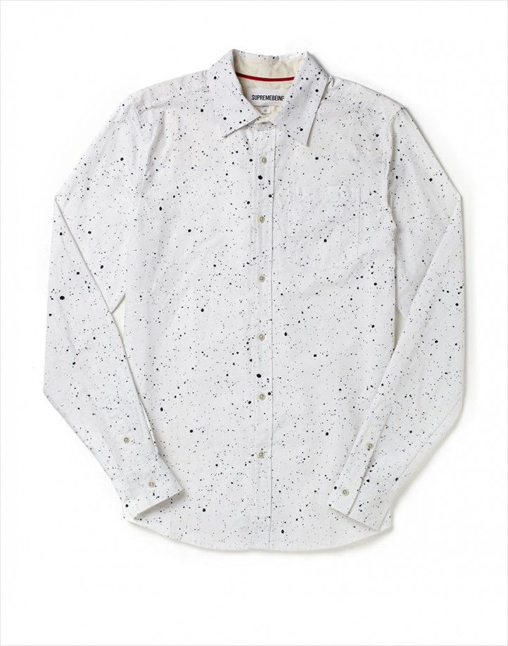 Supreme Being Shirt with Splatter Print