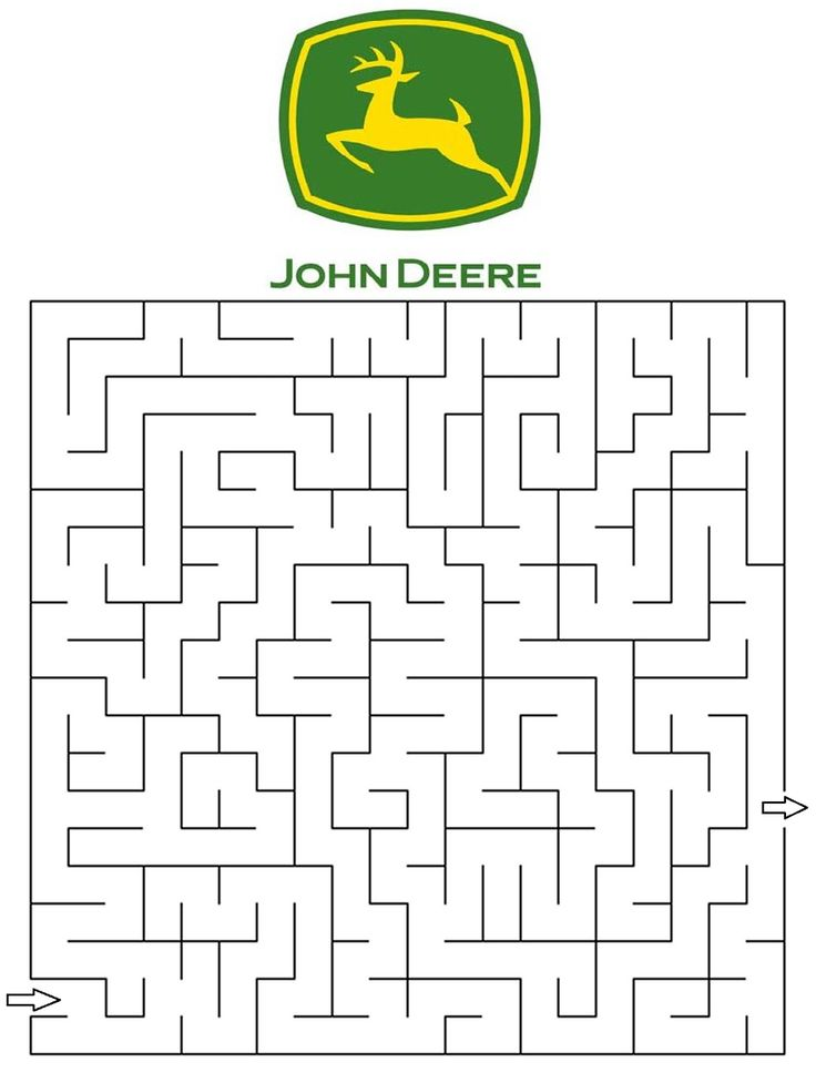 This is a picture of Geeky John Deere Printable
