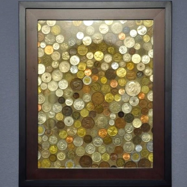 DIY frame of coins from all of the countries you have visited.
