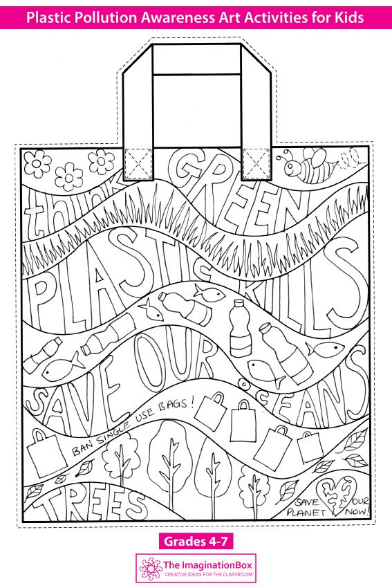 Earth Day Coloring Pages Plastic Pollution Art Activity In 2020