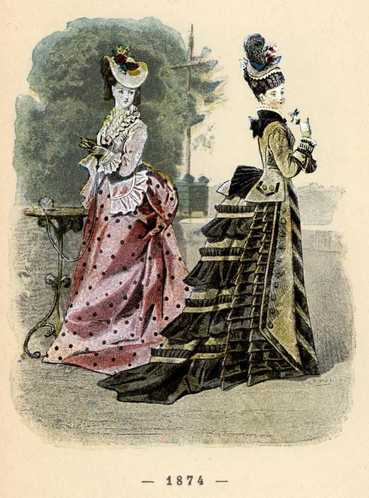 """page from 1896 french book """"Un siècle de modes féminines (a century of feminine fashions),which contains 400 fashion plates of fashions ranging from 1794 to 1894, full book can be viewed here: http://archive.org/stream/BookUnSiecleDeModesFeminines/UnSiecleDeModesFeminines#page/n0/mode/2up"""