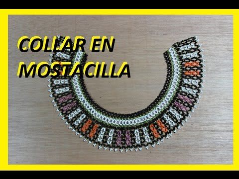 Como hacer un collar en mostacilla 6 - YouTube