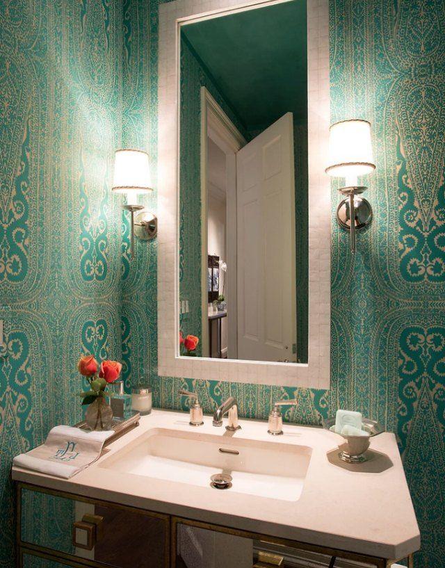 15 Stylish Bathrooms That Celebrate Pattern Pinterest Stylish