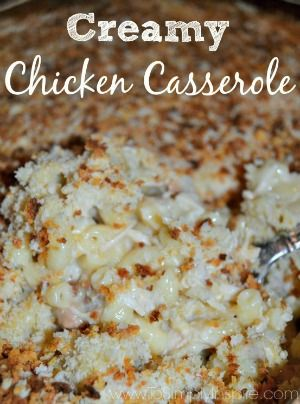 Comfort food at it's best. This Creamy Chicken Casserole will become a favorite in your house.