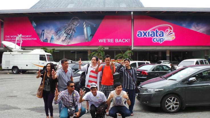 Axiata Cup Quiz Winners at Stadion Bulutangkis, Kuala Lumpur