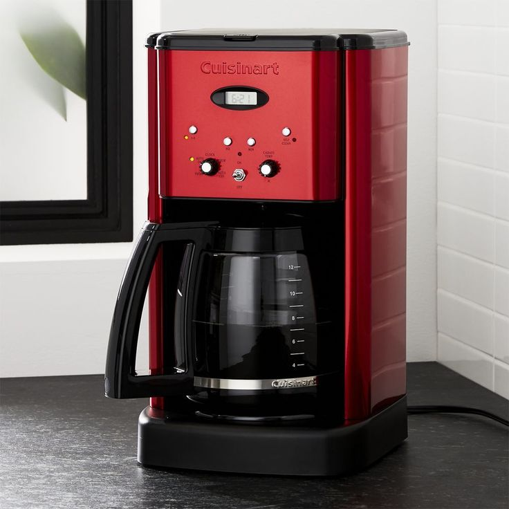 Cuisinart ® Brew Central 12-Cup Red Coffee Maker