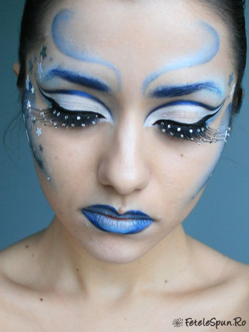 fantasy eyeshadow designs | Winter Fairy (fantasy makeup) | Fetelespun.ro