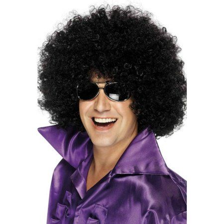 Mega Huge Afro Wig Halloween Accessory, Size: One-Size, Black