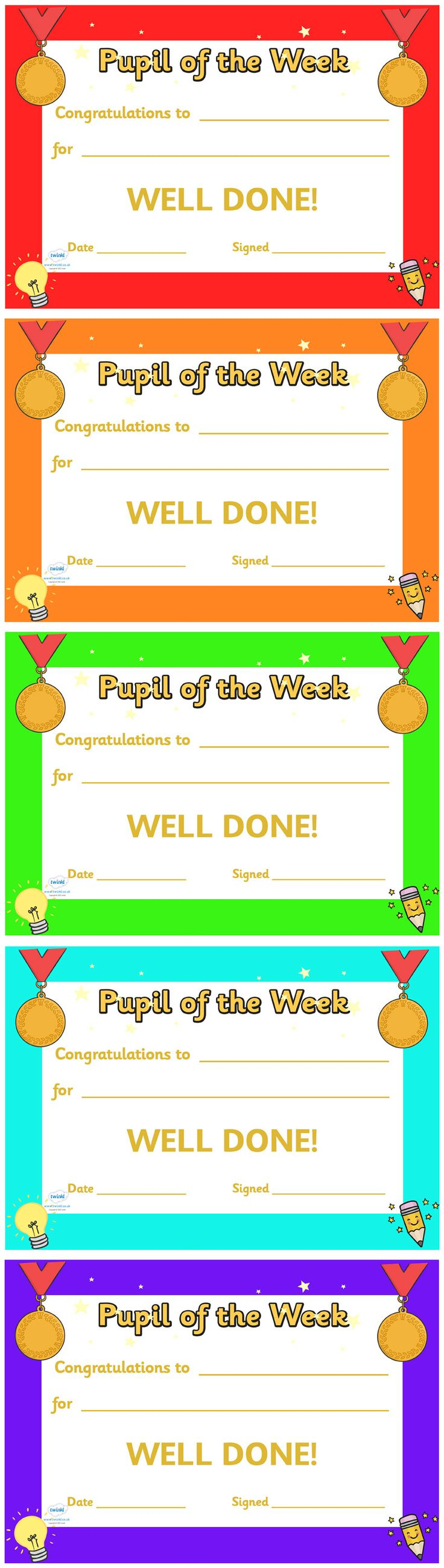 21 best collection of certificate for kids images on pinterest twinkl resources pupil of the week award certificate classroom printables for pre alramifo Image collections