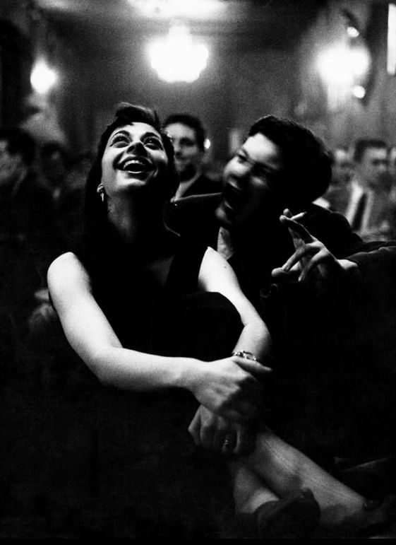 Robert Lebeck. Young couple at the Storyville, 1956