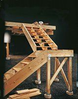 Best How To Build A Deck Stair Landing Wallpaper Image 640 x 480