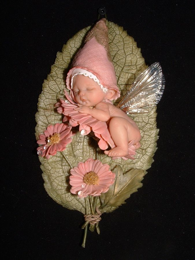 Fairy Baby by DIANE GUELINSKX | Polymer Clay Planet                                                                                                                                                                                 More