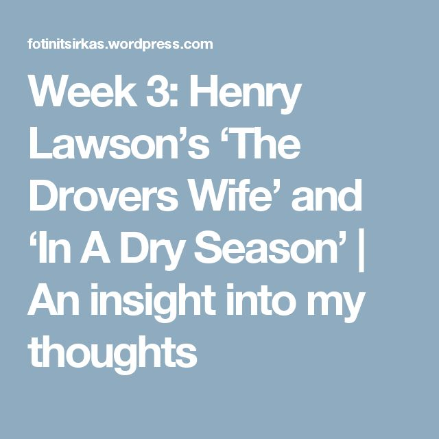 "henry lawson speech The short story ""the loaded dog"", written by henry lawson in 1901 displays a  significant aspect of distinctively visual through lawson's effective and."