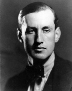 Ian Fleming, author of the James Bond novels, which are far superior to any of the films.