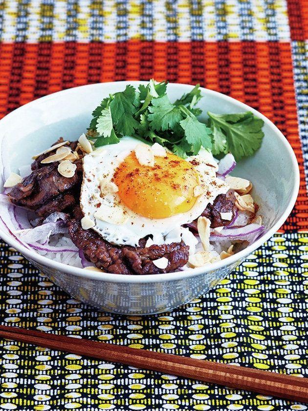 ELLE a table】丼ものレシピ一覧|エル・オンライン 牛肉のガラムマサラ丼