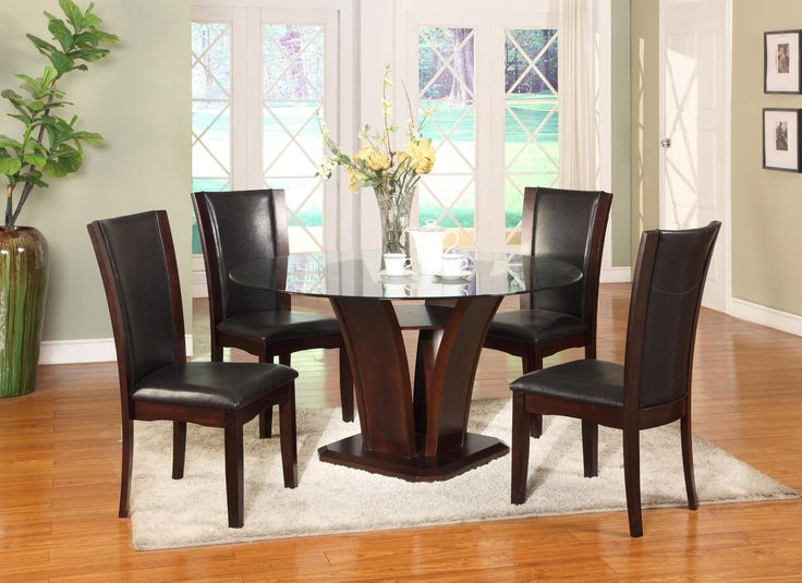 22105 Enclave Casual Wood Dining Set With Dia Round TableEnclave Espresso Chairs