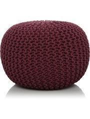 Knitted Pouffe - Purple