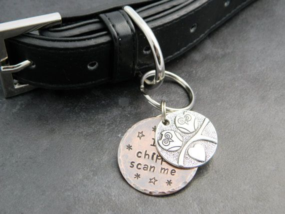 Handmade Custom 2 Disc Dog Tag/32mm Custom Pet by BarkingMadTags