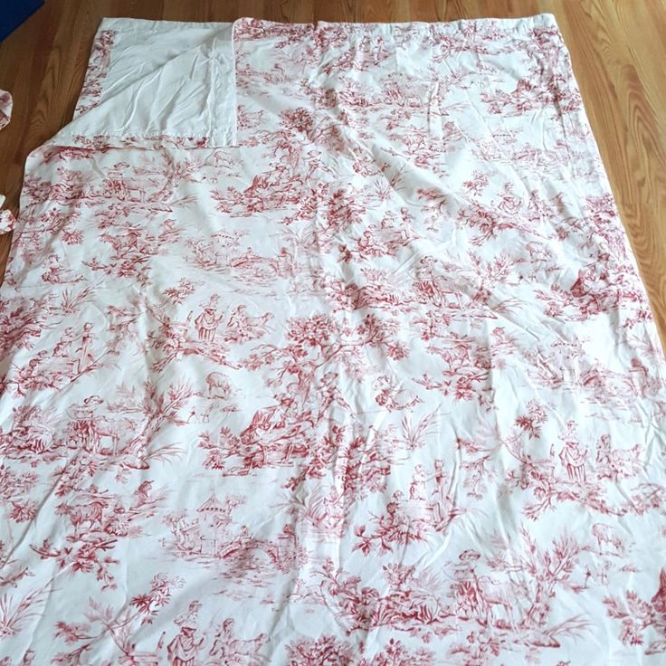 "Waverly Red Toile French Country Curtain Victorian Panel Curtain Farm 140"" #Waverly #Toile #FrenchCountry"
