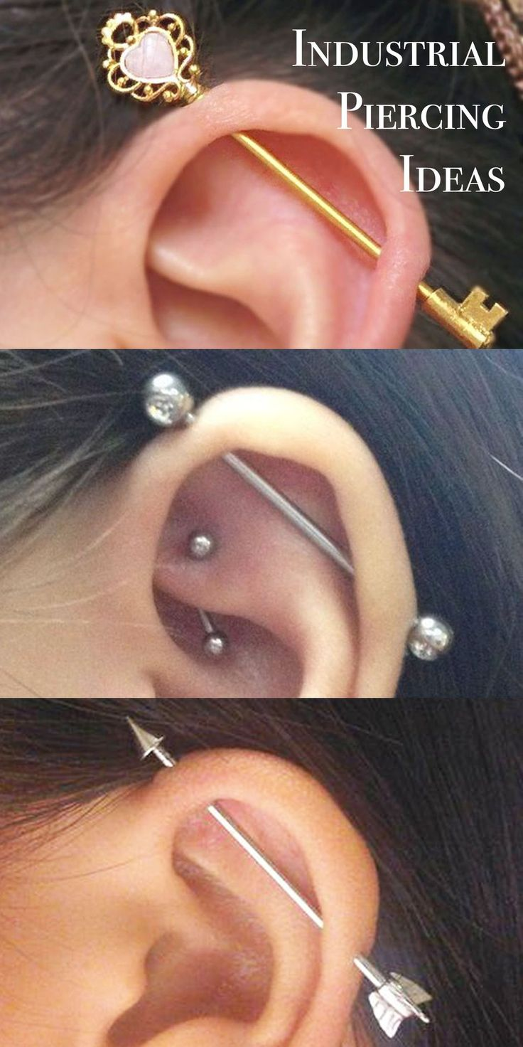 Cool Ear Piercing Ideas at MyBodiArt.com - All the Way Up Upper Industrial Barbell Earring 16G