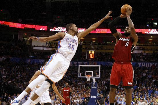 NBA Finals Game 1: LeBron James (30 Pts) vs. Kevin Durant (36 Pts) & Russell Westbrook (27 Pts)