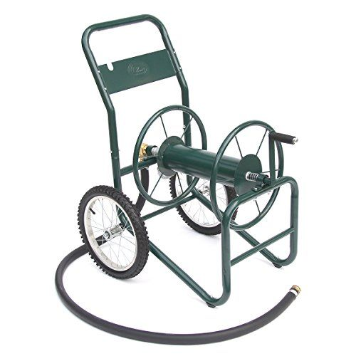 Liberty Garden Products 11802 Industrial 2Wheel Garden Hose Reel Cart Holds 150Feet of 1Inch Hose  Green *** To view further for this item, visit the image link.