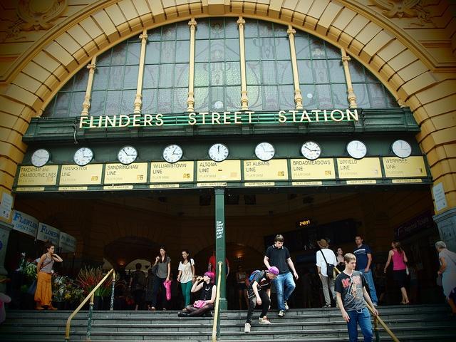 Meet you under the Flinders Street Station Clocks