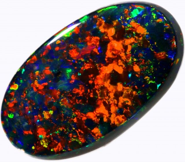6 CTS PARTY BLACK OPAL STONE -WELL POLISHED