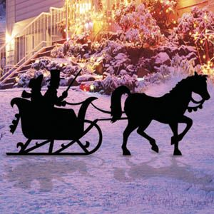 1085 one horse open sleigh shadow pattern yard art for Yard shadow patterns