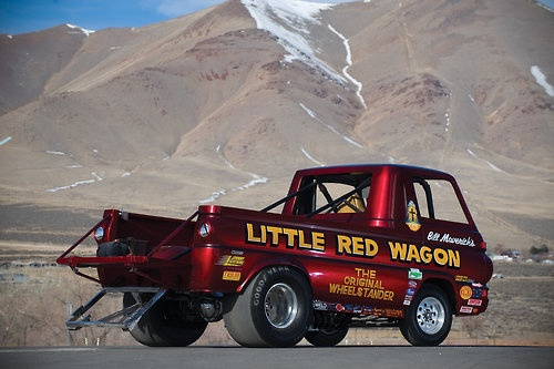 dodge   red wagon wheelstander wicked mopars pinterest vehicles  red