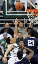 Keith Appling came off the bench to score 17 points and Denzel Valentine and Travis Trice added 15 apiece to power Michigan State to a 98-65 victory over Mount St. Mary's.