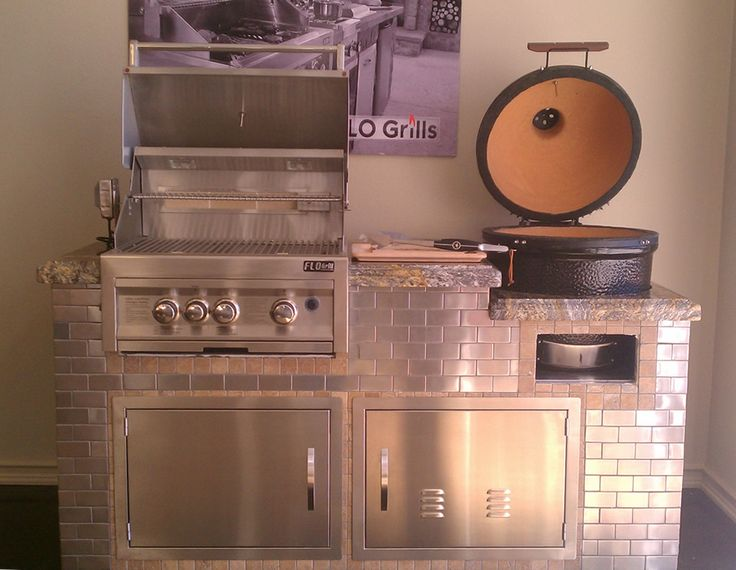 Kitchen Table Island Combo Samples With Flo Gas Grill & Kamado Joe Cermic ...