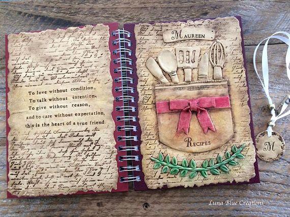 Personalized Recipe Journal Spiral Bound Journal