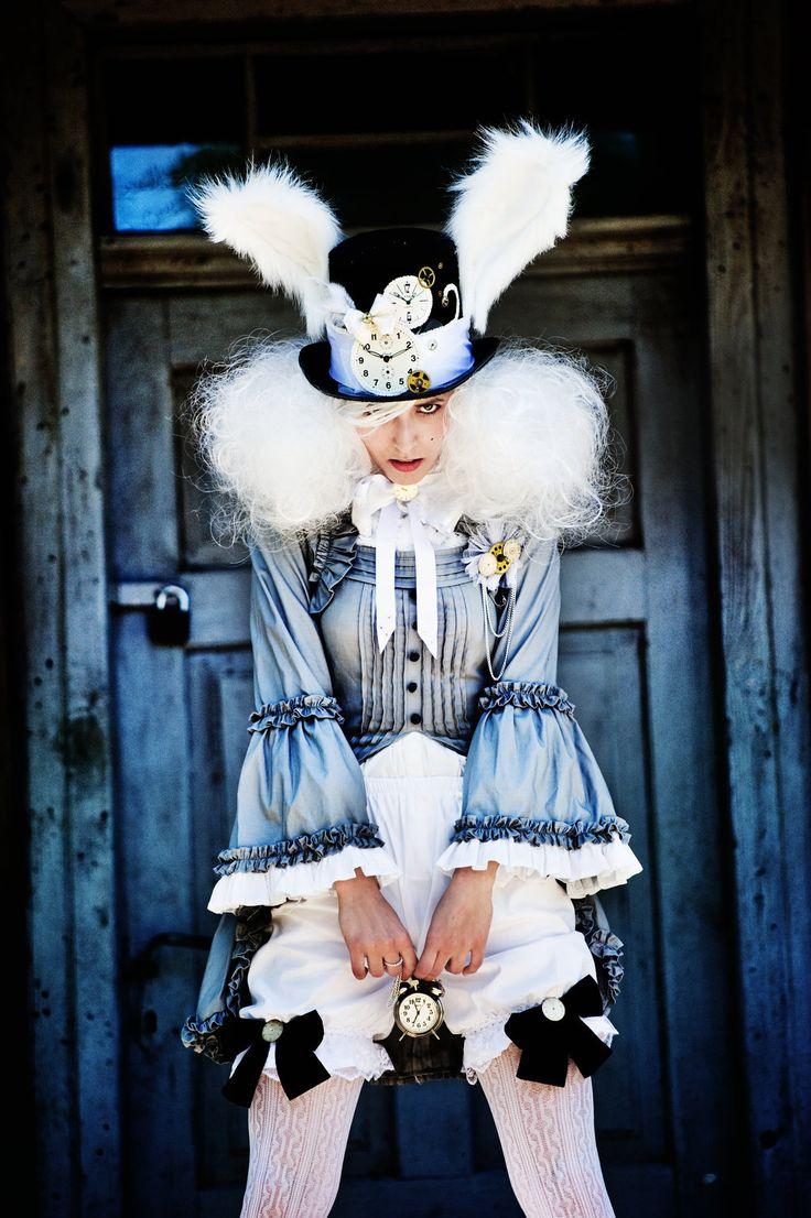 steampunk white rabbit cosplay - Google Search