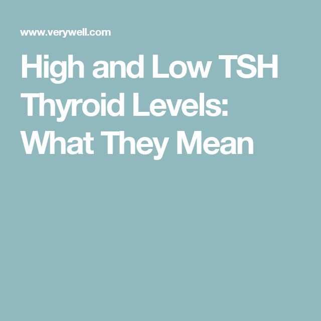 High and Low TSH Thyroid Levels: What They Mean