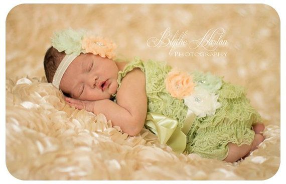 3pcs baby romper, Mint Green Lace Petti Romper, toddler outfit, flower girl, Birthday outfit, baby outfit, baby girls romper, newborn romper on Etsy, $49.95