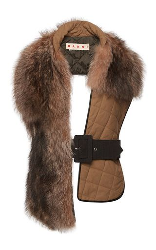 Quilted Raccoon Fur Stole by Marni for Preorder on Moda Operandi