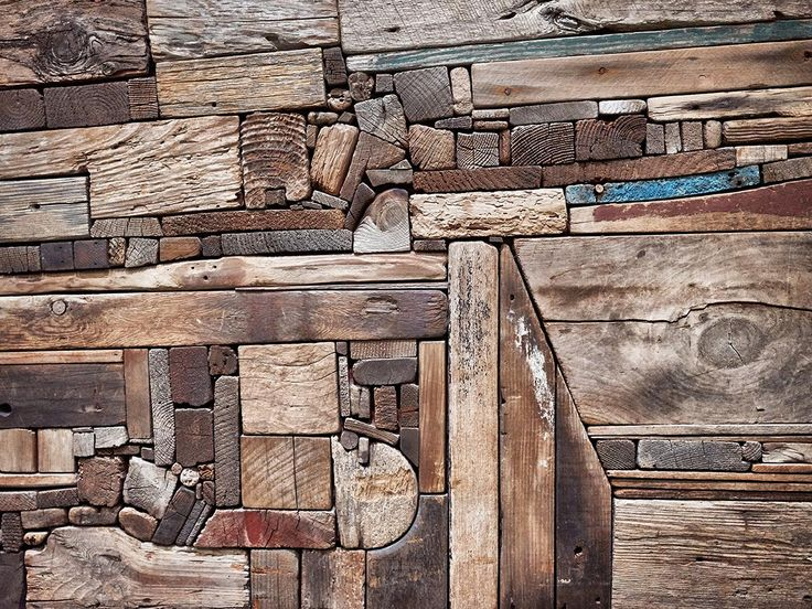 "torontofoodphotographer:  Section of wood collage ""New England Landscape"" by George Morrison"