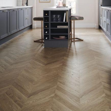 Professional Oak Chevron Laminate Flooring Hv Kitchen In