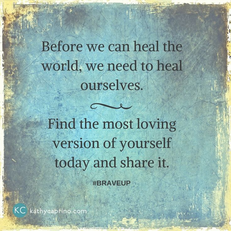 Let's heal together - kathycaprino.com