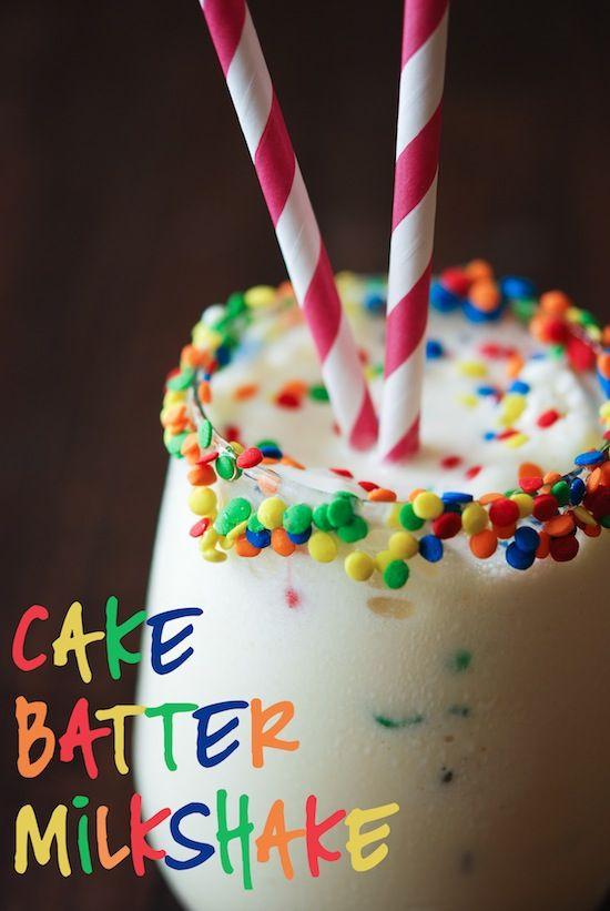 Cake Batter Milkshake- this is trouble for my waistline. SO GOOD!