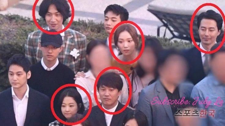 Lee Kwang Soo, Jo In Sung,Tae Hyun,D O, Lee Sung Kyung, Park Bo Young spotted at Kim Ki Bang wedding - YouTube