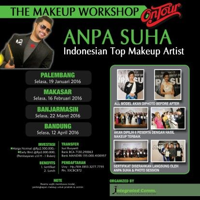 THE MAKEUP WORKSHOP ON TOUR EITH ANPA SUHA 2016