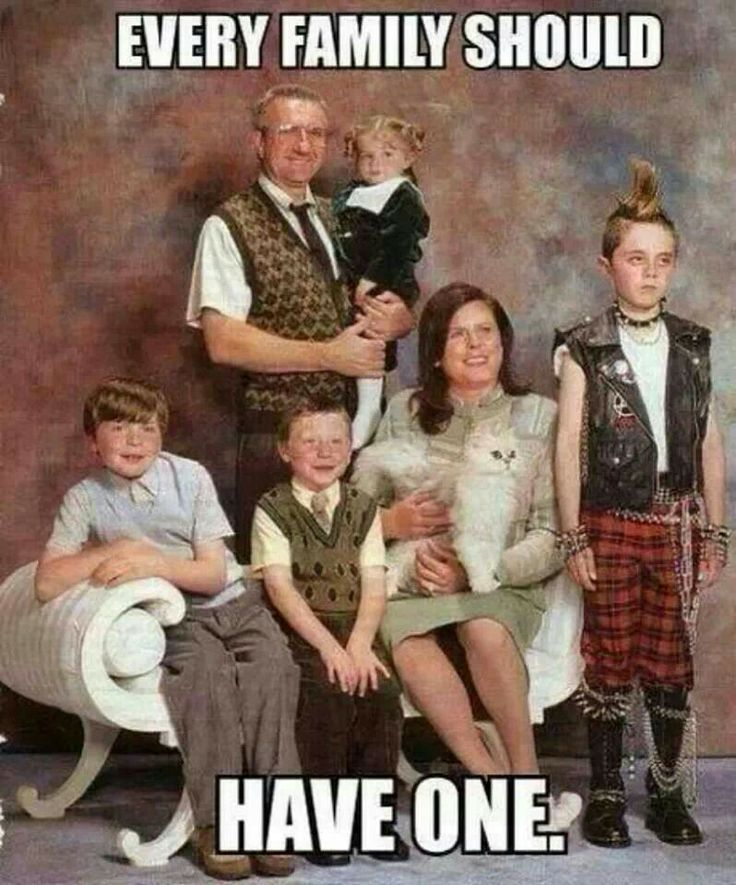 Funny family photo